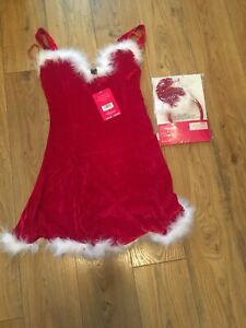Rrp £30 Ann Summers 2 Piece Sexy Santa Outfit Size 10, Outfit & Hat Headband