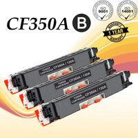 3PK Black CF350A Toner Cartridge For HP 130A Color LaserJet Pro MFP M176n M177fw