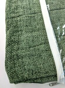 Home Effects Chenille Throw Blanket Khaki Green 46 x 67 inches NEW Made in USA