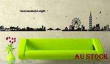 """City Silhouette"" Removable Family Home Decor DIY Vinyl Wall Sticker Decal Art"