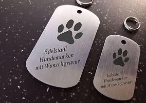 Hundemarke/Erkennungsmarke EDELSTAHL DOGTAG groß - mit Logo + beiseitiger GRAVUR