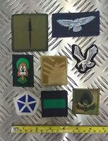 Assorted X8 Military Patches Embroidered Insignia Patch / Sew on Badge UMBA23D