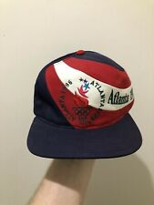Vintage Atlanta 1996 Olympics Big Logo Snapback Hat Cap By Eastport Color Block