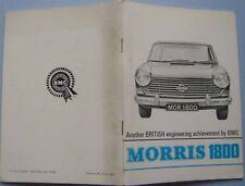 Morris 1800 original Salesmans Book Pub. No. H & E 6603 1966