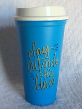 New Starbucks 2018 Summer Reusable Cup Play Outside the Lines Blue