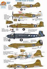 Wolfpak decals 72-096 east of eden P-40 warhawk thunderbolt boeing B-17 B-25 C47