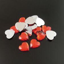 Nuevo 50 Rhinestone Corazones Rojos Flatback Para Tarjeta/Recortes-día de San Valentín