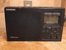 Sangean CCRadio Plus DX AM/FM/TV/Weather Band Receiver 5 PRESETS