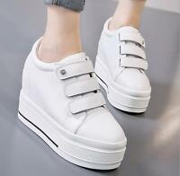 2018 Womens Round Toe Platform Hidden Wedge Heels Muffins Casual Creepers Shoes