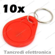 5x Tag token rfID 13.56 MHz per lettore RC522 compatibile NFC Arduino PIC rosso