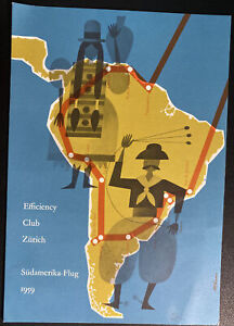 Swiss Air Efficiency Club South American Flight Souvenir Brochure