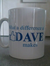 WHAT A DIFFERENCE A DAVE MAKES NOVELTY MUG PERSONALISED FACEBOOK CHRISTMAS 133