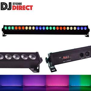 QTX C-BAR Powerful Bright 24 x 3W RGB DMX TRI LED Colour Uplight DJ Effects Bar