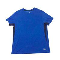 EUC Pro Player Blue Black Stripe Wicking T-Shirt Large