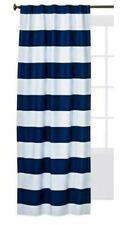 "Pillowfort Twill Navy Stripe Light-Blocking One Window Panel ~ 42"" × 84"""