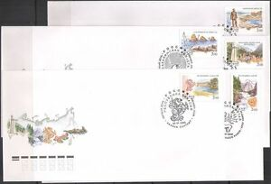 Russia 2002 Waterfall/Seals/Oil Rig/Horses/Statues/Nature/Regions 5 x FDC n42970