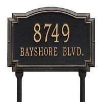 Whitehall Williamsburg Raised Plaque Address House Numbers Custom sign Lawn Yard