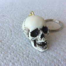 Made in USA Skull Skeleton head Key Chain Ring goth punk Hot Rat Street Rod 17KC