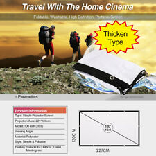16:9 HD Projection Screen 100'' Perfect for all Projector Portable Outdoor Movie