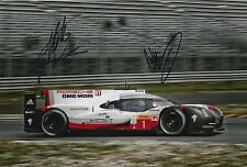 Lotterer, Tandy, Jani Hand Signed Porsche Racing 12x8 Photo Le Mans 2017 5.