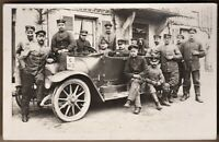 «OPEL» GERMAN OFFICER CAR WW1 ARMY CLASSIC ANTIQUE PHOTO RPPC POSTCARD