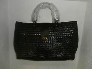 Women's MediumStraw Handbag Black NWOT!!!!