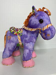Doodle Pony Plush Horse Write on Washable Doodle Bear Purple Soft Toy Stuffed