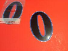 "Old Vintage BMX Number plate stickers Schwinn Numbers ""0"" NOS circa 1982"