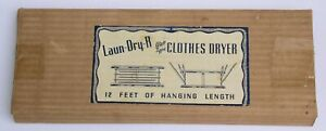 Vintage Laun-Dry-R Wall Type Clothes Dryer Metal IOB Box 6 arms 12 feet laundry