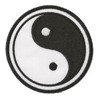 Patche écusson patche Ying Yang noir patch brodé thermocollant brodé