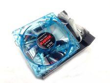 "1 PC New 80mm 8cm 3.15"" Blue 4 LED LEDs Case Power Supply Fan 3/4 Pin DC 12V"