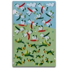 ✰ CUTE DRAGONFLY & GRASSHOPPER FELT STICKERS Sheet Bugs Animal Scrapbook Sticker