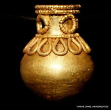 ANCIENT ROMAN GOLD JAR PENDANT 100 BC - 200 AD! CHOICE CONDITION! ELEGANT PIECE