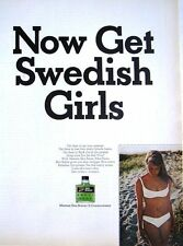 Vintage 1967 Mennen 'SKIN BRACER' Man's Cologne Advert - Original Photo Print AD