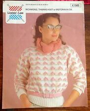 Lister LeeDK Ladies Sweater. Bust81-91cms (32-36inches Pattern no. K1565