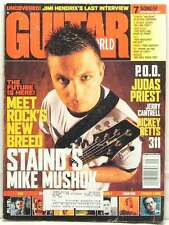 MIKE MUSHOK GUITAR WORLD MAGAZINE STAIND LINKIN PARK JIMI HENDRIX SEPTEMBER 2001