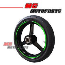 "Green Fluorescent Stripe Wheel Sticker 17"" For Moto Guzzi Motorcycles Decal"