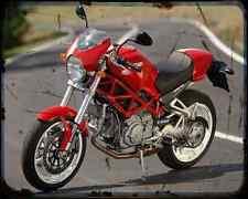 Ducati Monster S2R 1000 06 1 A4 Metal Sign Motorbike Vintage Aged