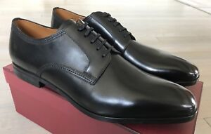 750$ Bally Latour Black Laces Up Shoes Size US 12 Made in Switzerland