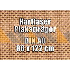 10 McPoster Profi-Hartfaser DIN A0 - 860 x 1220 x 3,0 mm | gebohrt | 1000 kg/m³
