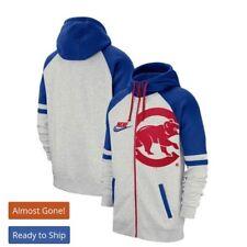 Chicago Cubs Nike Full-Zip Hoodie - Heathered Gray