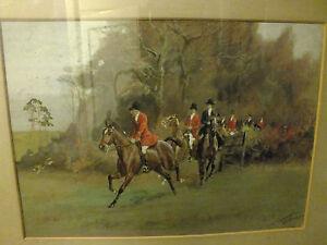 Hunting Watercolour Painting Thomas Ivester Lloyd 1873-1942