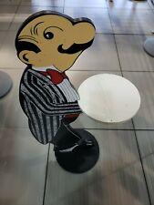 Vintage Butler Figure Waiter Statue Wooden Serving Bar Restaurant Man Cave Large