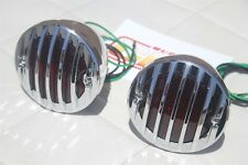 Custom Hot Rod Truck Tail Light Lamps Duolamp Chrome Grill Bezel Right Left Pair