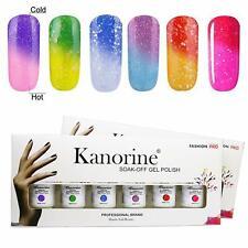 KANORINE Lot de 6 vernis à ongles gel UV ou LED longue durée Manucure Brillant