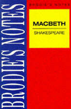 Shakespeare: Macbeth (Brodie&quote;s Notes) *New*