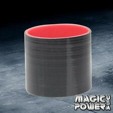 """Black/Red 2.5"""" /63.5mm Straight Turbo/Intake/Intercooler Pipe Silicone Coupler"""
