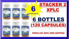 Stacker 2 XPLC 2 20/Bottle Energy Weight Loss Dietary 6 X = 120 Capsules 08/2022