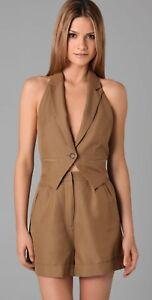 Marc by Marc Jacobs Ursula Romper Size 4 Vest Sleeveless Shorts Beige Halter G8
