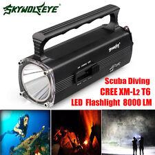 8000LM Diving Underwater 100M CREE XM-L T6 LED Scuba Flashlight Torch Waterproof